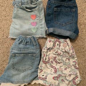 EUC 3T Girl Jean Shorts 🦄